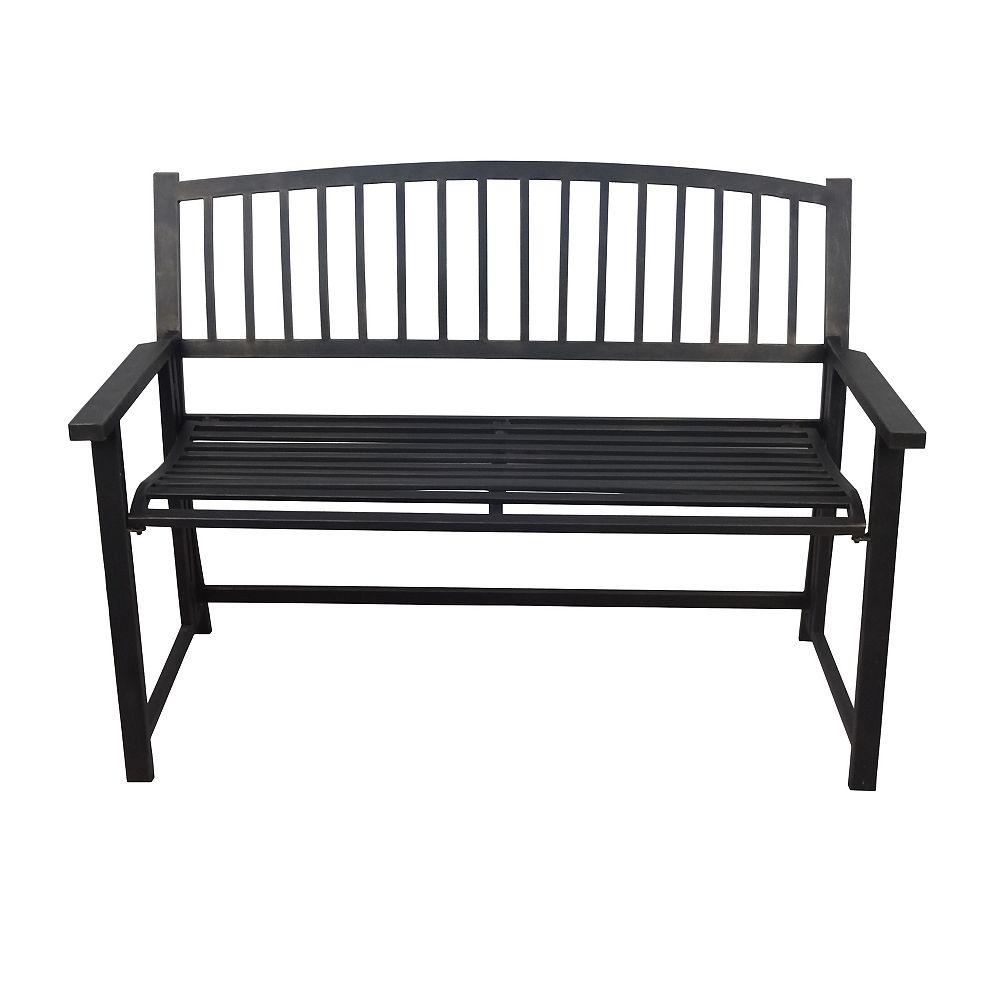 Crawford & Burke Folding Outdoor Patio Bench in Black