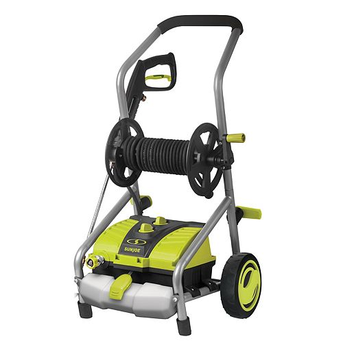 Sun Joe 2030 PSI 1.76 GPM 14.5 Amp Electric Pressure Washer with Pressure-Select Technology and Hose Reel
