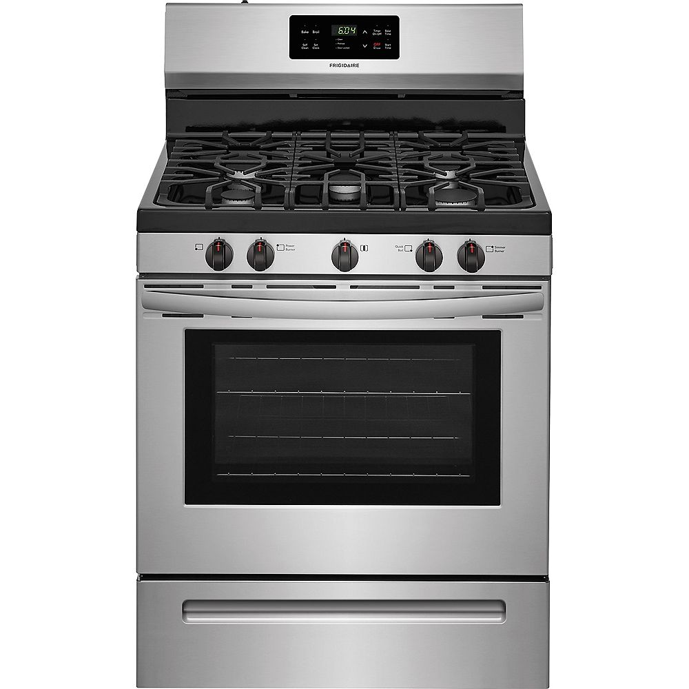 Frigidaire 30-inch 5.0 cu. ft. Freestanding Gas Range with Self-Cleaning Oven in Stainless Steel