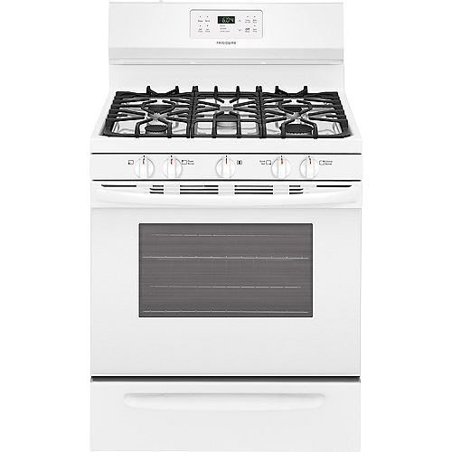 30-inch 5.0 cu. ft. Freestanding Gas Range with Self-Cleaning Oven in White