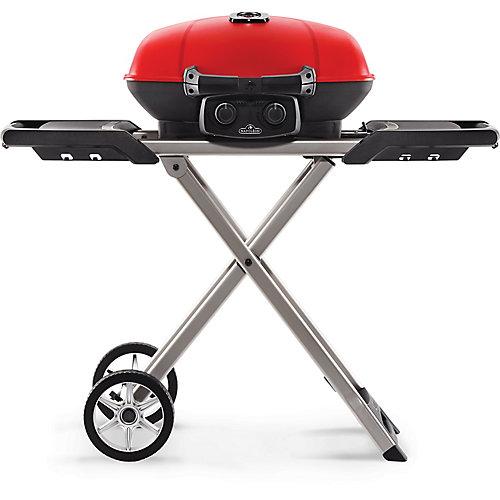 Barbecue portatif sur chariot Travel portatif pliable, rouge