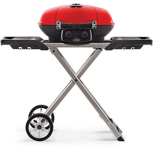 TravelQ 285 Portable BBQ with Scissor Cart in Red