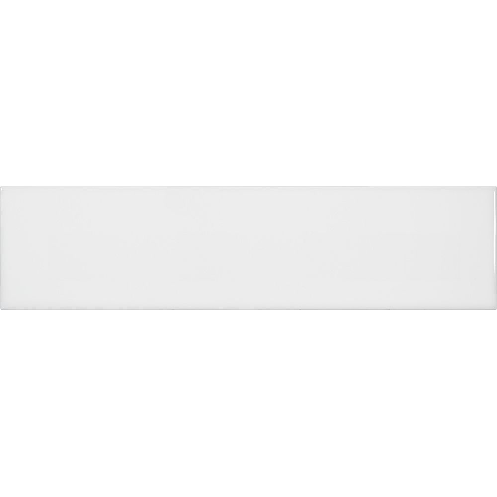 Enigma Metro White Gloss 4-inch x 16-inch Wall Tile