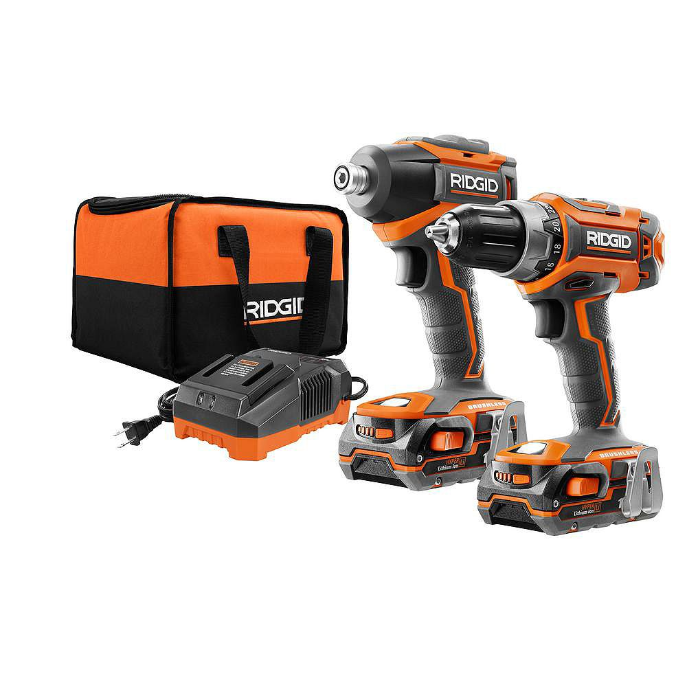 RIDGID GEN5X 18V Lithium-Ion Brushless Cordless Drill/Driver and Impact Driver Combo Kit (2-Tool)