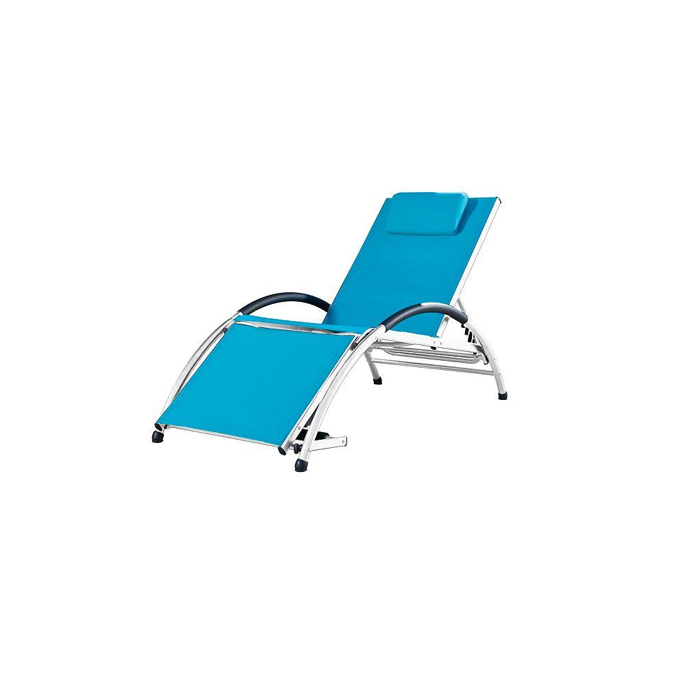 Vivere Dockside Aluminum Sun Lounger in True Turquoise