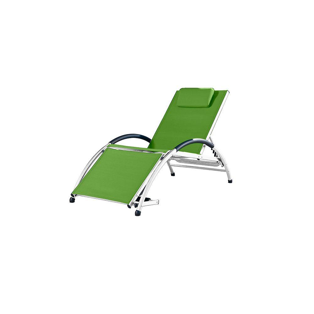 Vivere Dockside Aluminum Sun Lounger in Green Apple