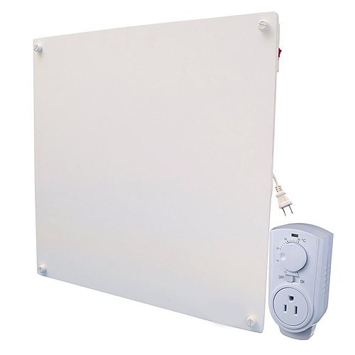 Amaze Heater 400w with Plug-in Thermostat Electric Panel Room Heater
