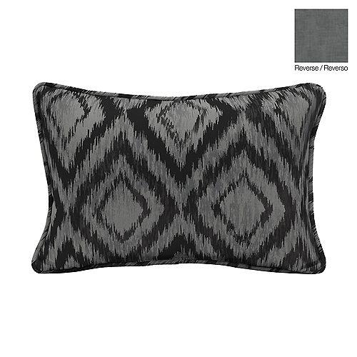 13 X 20 X 5 inch Outdoor Lumbar Throw Pillow with Jackson Ikat Diamond
