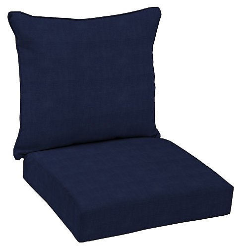 CushionGuard Midnight 2-Piece Deep Seating Outdoor Dining Chair Cushion