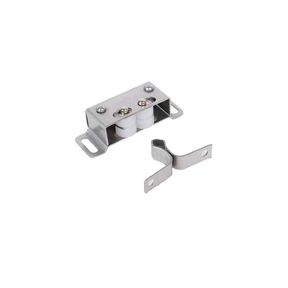 Richelieu Double Roller Catch with Diamond Strike, Stainless Steel