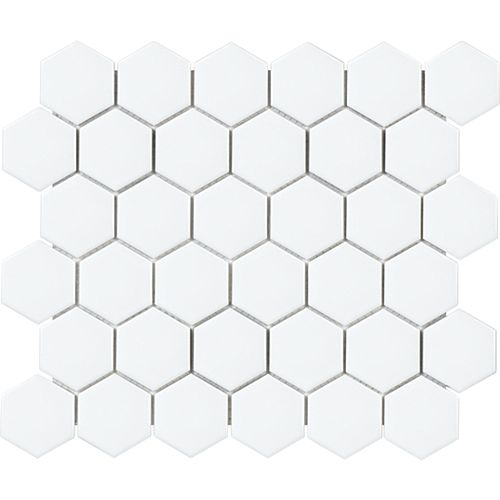 Metro Hexagon 2-inch Matte White Porcelain Mosaic Tile (0.95 sq. ft. / piece)