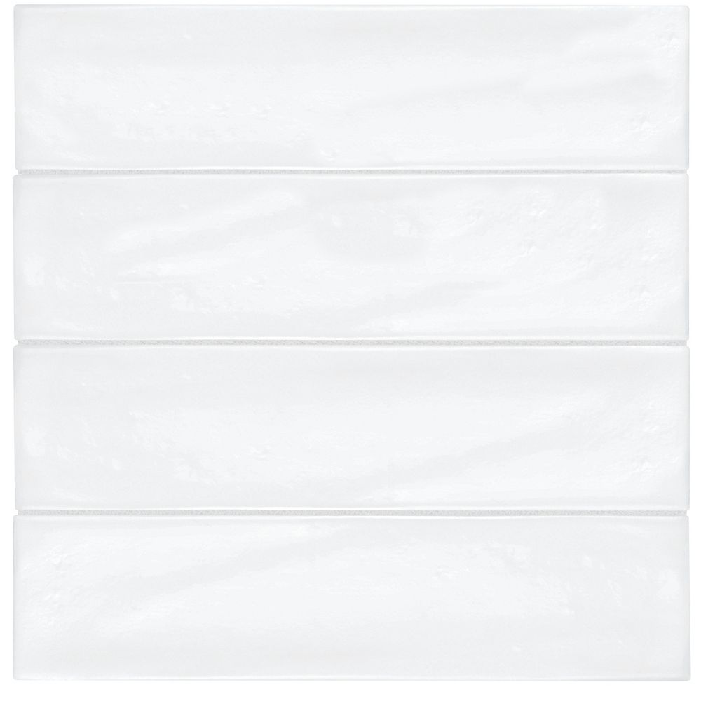 Enigma Artisan White Gloss 3 Inch X 12 Inch Wall Tile The Home Depot Canada