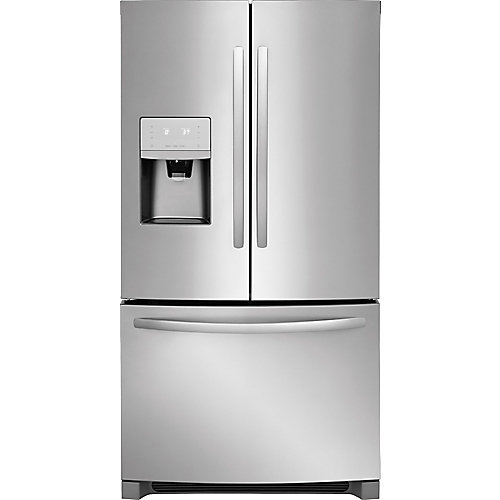 36-inch W 27.2 cu. ft French Door Refrigerator in Stainless Steel - ENERGY STAR®