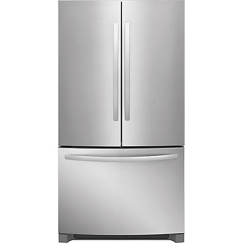36-inch W 27.6 cu. ft. French Door Refrigerator in Stainless Steel - ENERGY STAR®