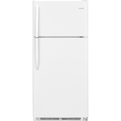 30-inch W 18 cu. ft. Top Freezer Refrigerator in White