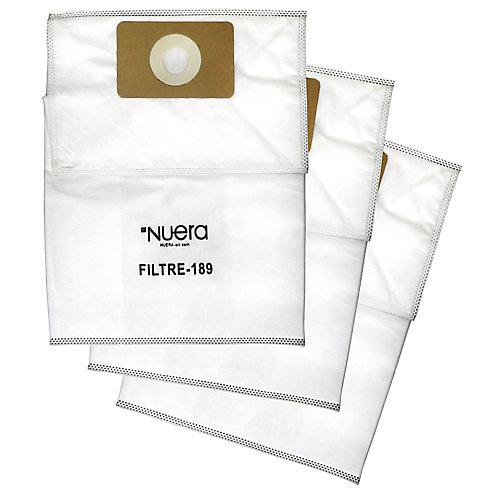Ensemble 3 sacs de filtration Haute performance