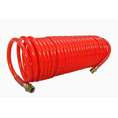 1/4-inch x 25 ft. recoil PU air hose