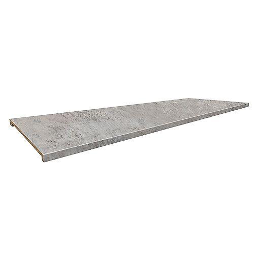 8830-58 Profile 2300 Island Bar Top 26-3/4 inch x 96 inch Laminate Elemental Concrete