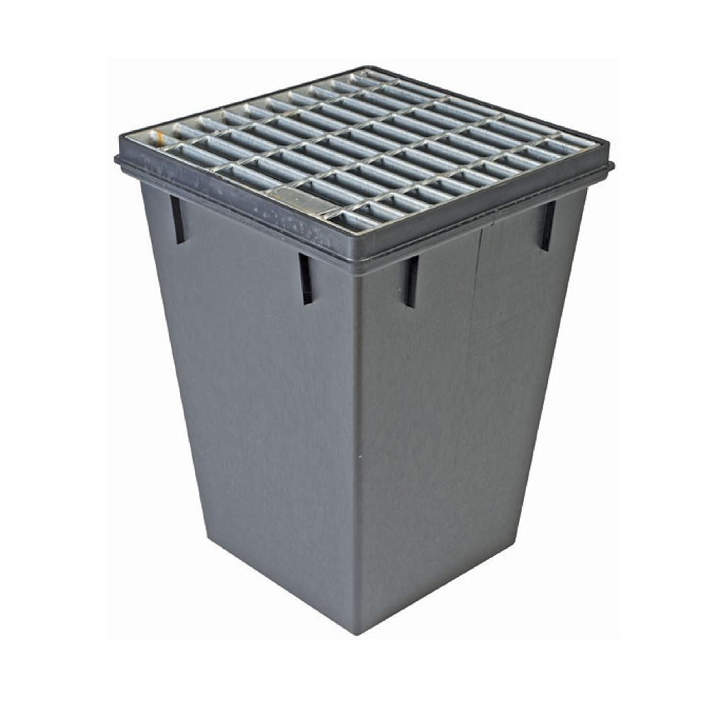 RELN 18 in. x 18 in. x 24 in. Deep Pro Series Catch Basin with Galvanized Grate