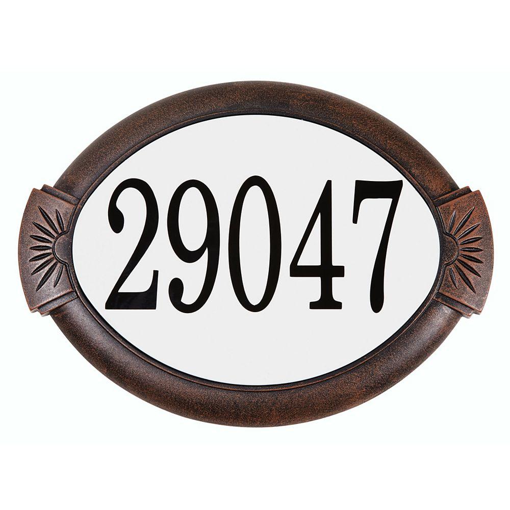 PRO-DF Classic Cast Aluminum Address Plaque, Antique Copper