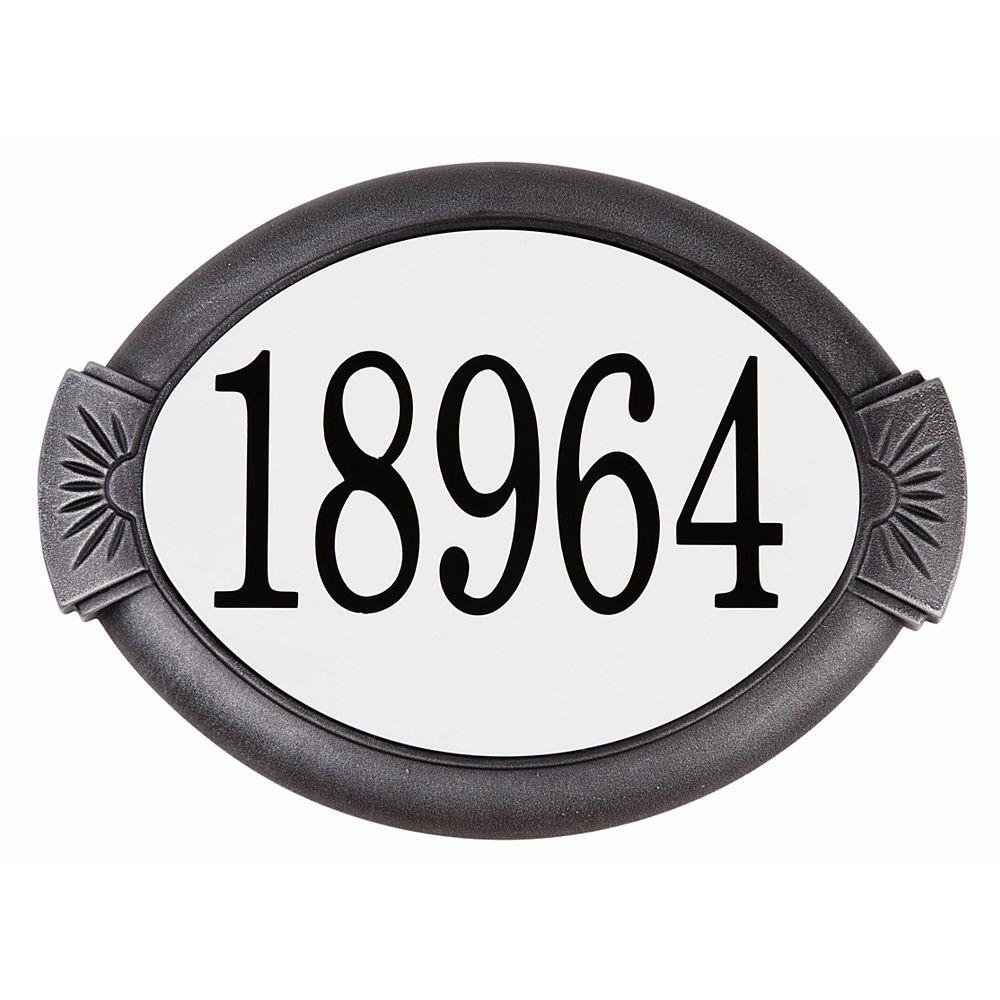 PRO-DF Classic Cast Aluminum Address Plaque, Swedish Silver