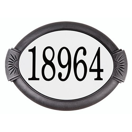 Classic Cast Aluminum Address Plaque, Swedish Silver