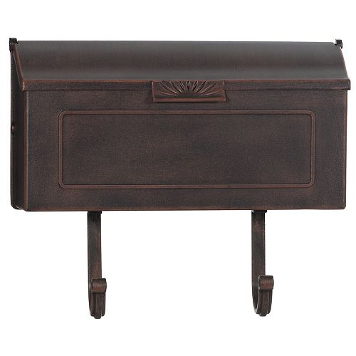 PRO-DF Classic Cast Aluminum Mailbox, Antique Copper