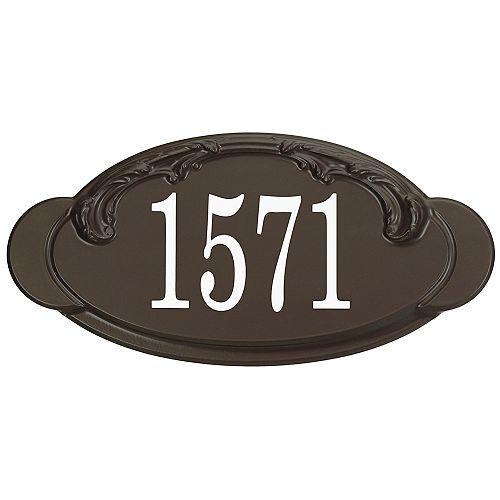 Victorian Thermoplastic Address Plaque, Mocha