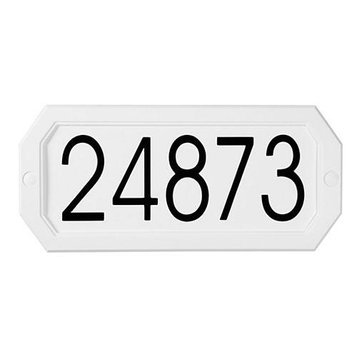 Economical Address Plaque, White