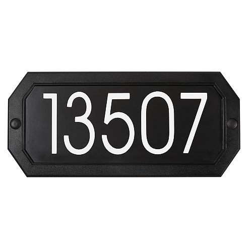 PRO-DF Economical Address Plaque Kit, Black