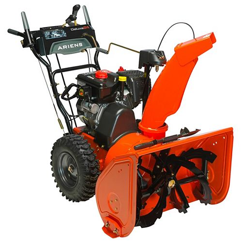 Deluxe 24-inch 2-Stage Electric Start Gas Snow Blower with Auto-Turn Steering