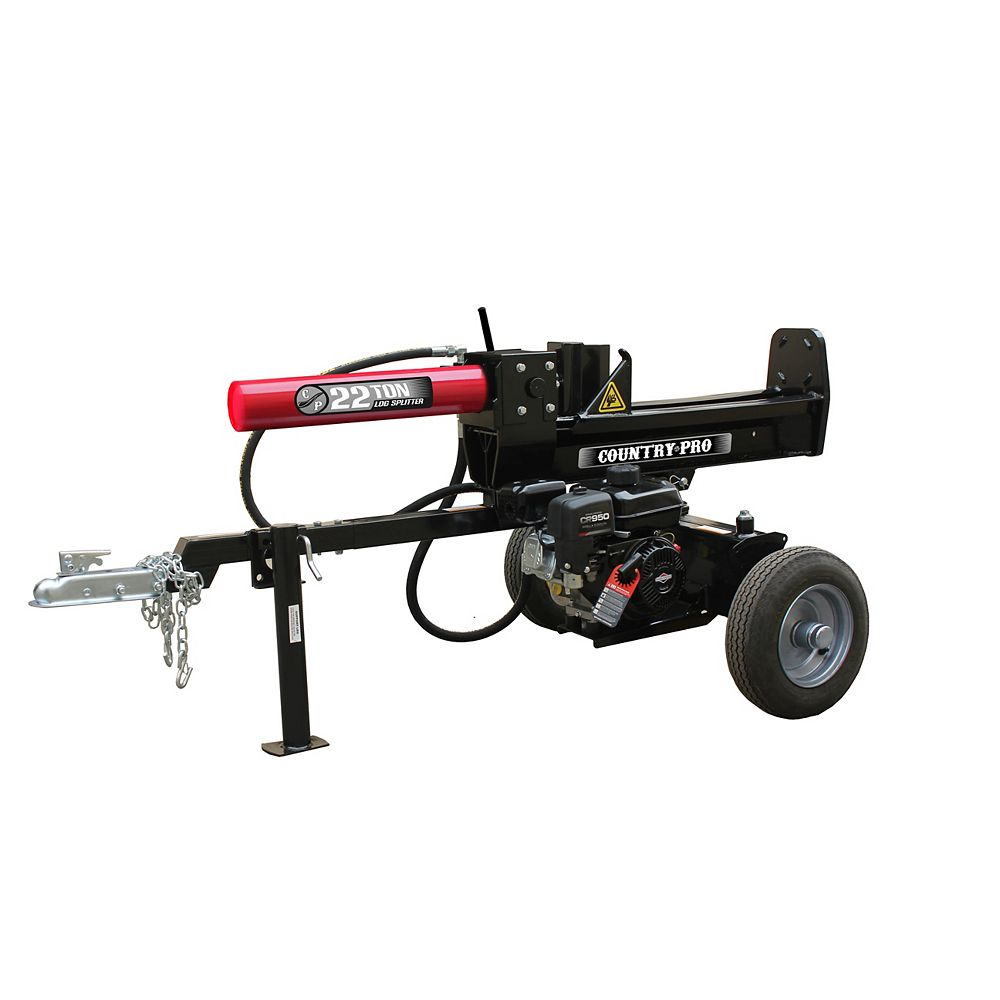COUNTRY PRO 22 Ton Log Splitter with 208cc Briggs and Stratton Engine