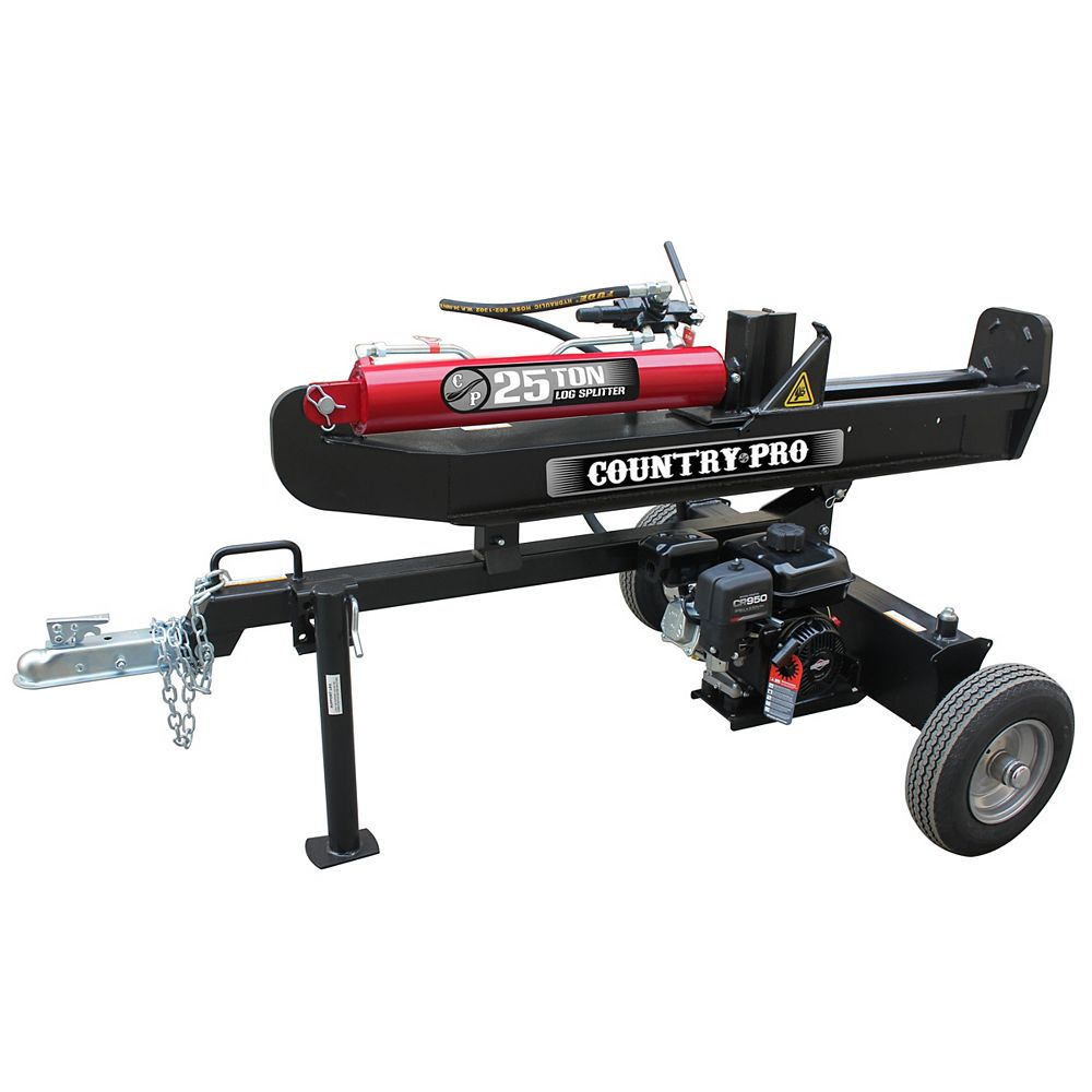 COUNTRY PRO 25 Ton Log Splitter with 208cc Briggs and Stratton Engine