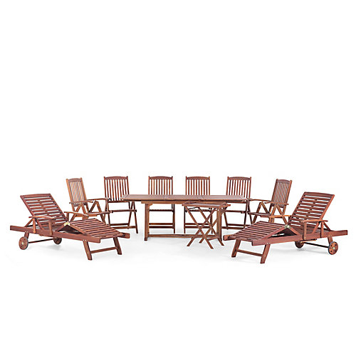 Tosca Outdoor Wood Dining Set