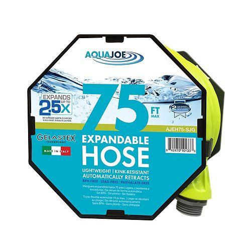 Aqua Joe 75 ft. Expandable Lightweight Kink-Free Hose