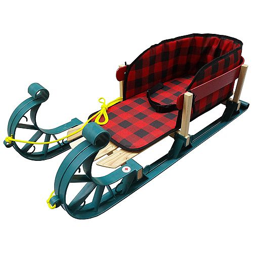 Streamridge Alpine Kinder Sleigh with belted plaid pad