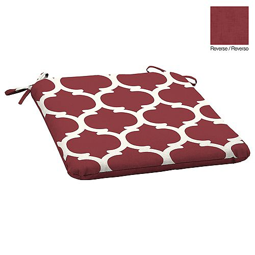 19.75 -inch L x 20 -inch W x 2.5 -inch Thick Outdoor Seat Pad with Red Frida Trellis