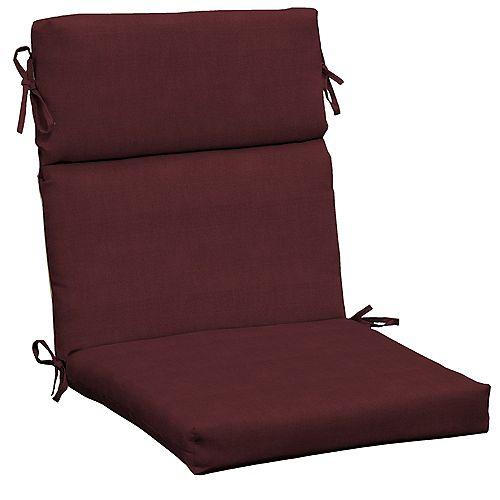 CushionGuard Aubergine High Back Outdoor Dining Chair Cushion