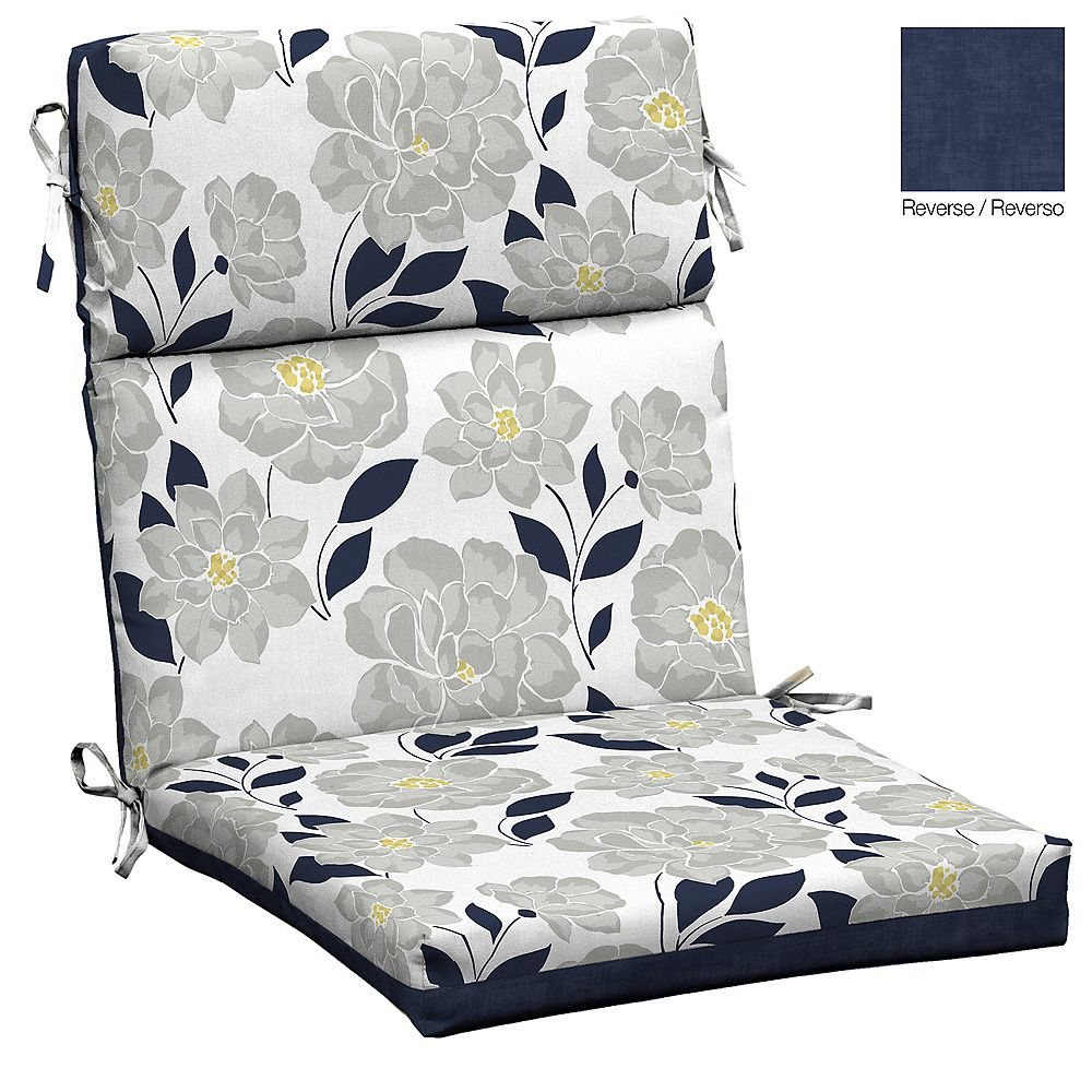Hampton Bay Flower Show High Back Dining Chair Cushion