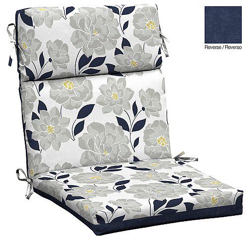 Flower Show High Back Dining Chair Cushion