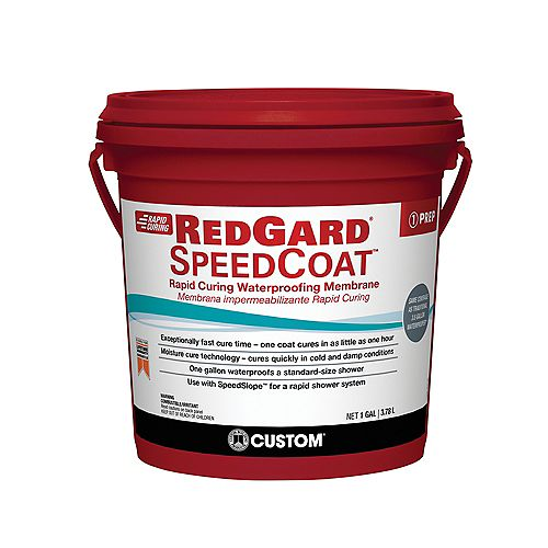 Custom Building Products Red Gard SpeedCoat 1 Gal. Waterproofing Membrane
