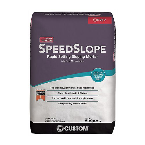 Custom Building Products SpeedSlope 50 lb. Rapid Setting Sloping Mortar