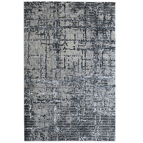 Viscotti Black 8 ft. X 10 ft.  Indoor Area Rug