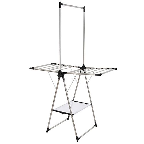 Stainless Steel Indoor/Outdoor Compact Drying Center with Mesh Shelf