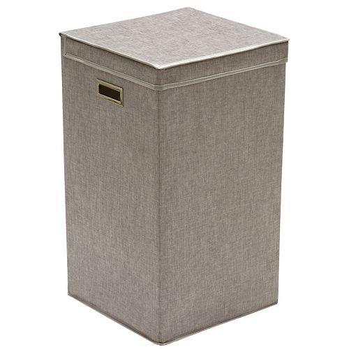 Panier à linge pliable en lin gris