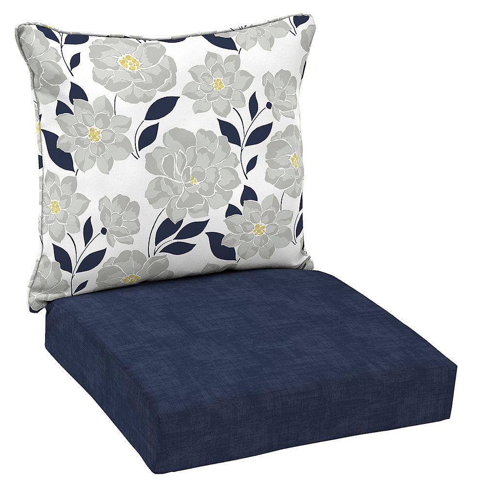 Hampton Bay Flower Show 2-Piece Deep Seating Lounge Chair Cushion