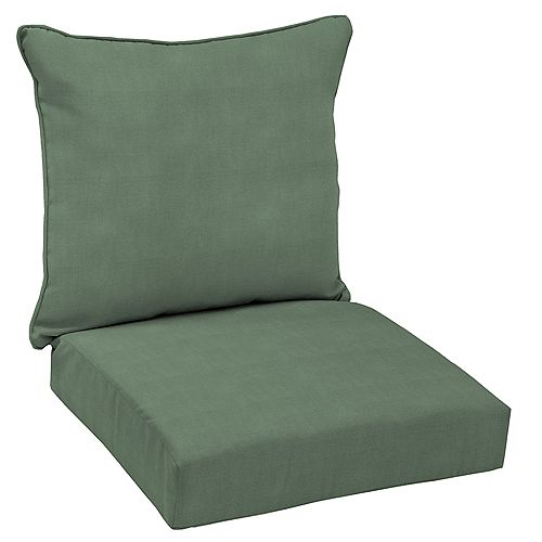 CushionGuard Surplus 2-Piece Deep Seating Outdoor Dining Chair Cushion