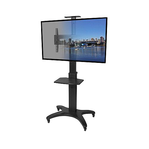 MTMA55PL Mobile TV Mount with Adjustable Shelf for 32-inch to 55-inch Flat Panel TVs