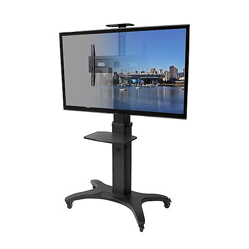 MTMA70PL Mobile TV Mount with Adjustable Shelf for 40-inch to 70-inch Flat Panel TVs