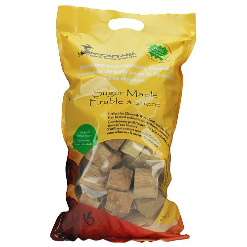 Montana Grilling Gear Sugar Maple Smoking and Cooking Wood Chunks